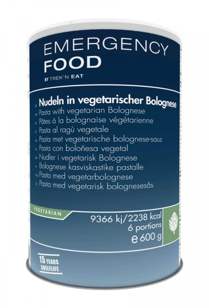 Emergency Food Nudeln in vegetarischer Bolognese