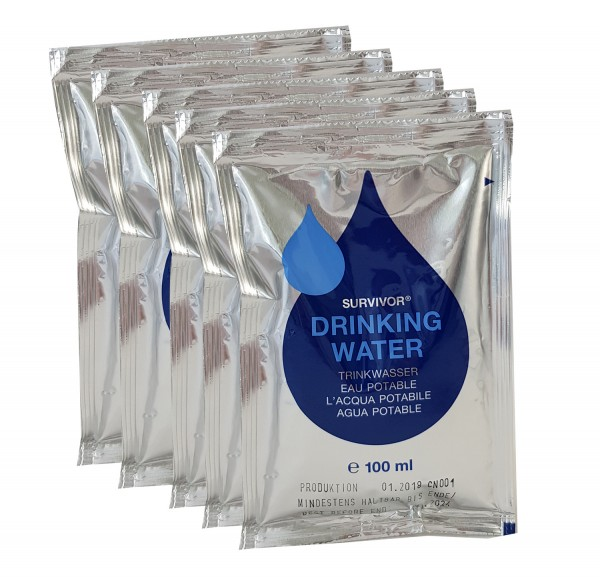 Katadyn Trans-Ocean Emergency Drinking Water Ration (5x100 ml)