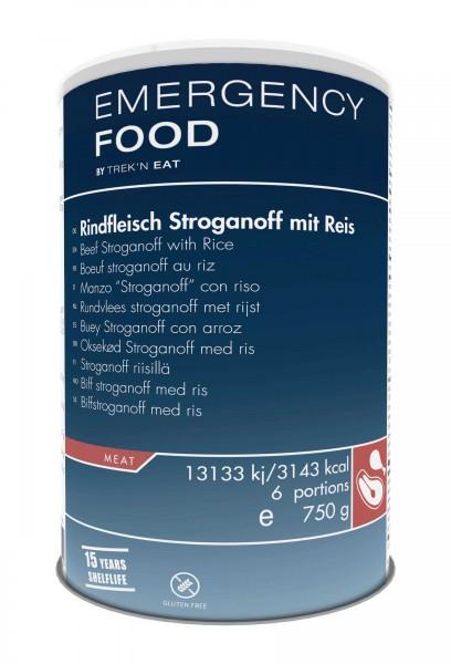 Emergency Food Rindfleisch Stroganoff mit Reis