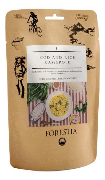 Forestia Kabeljau-Reis-Auflauf Outdoornahrung Trekking